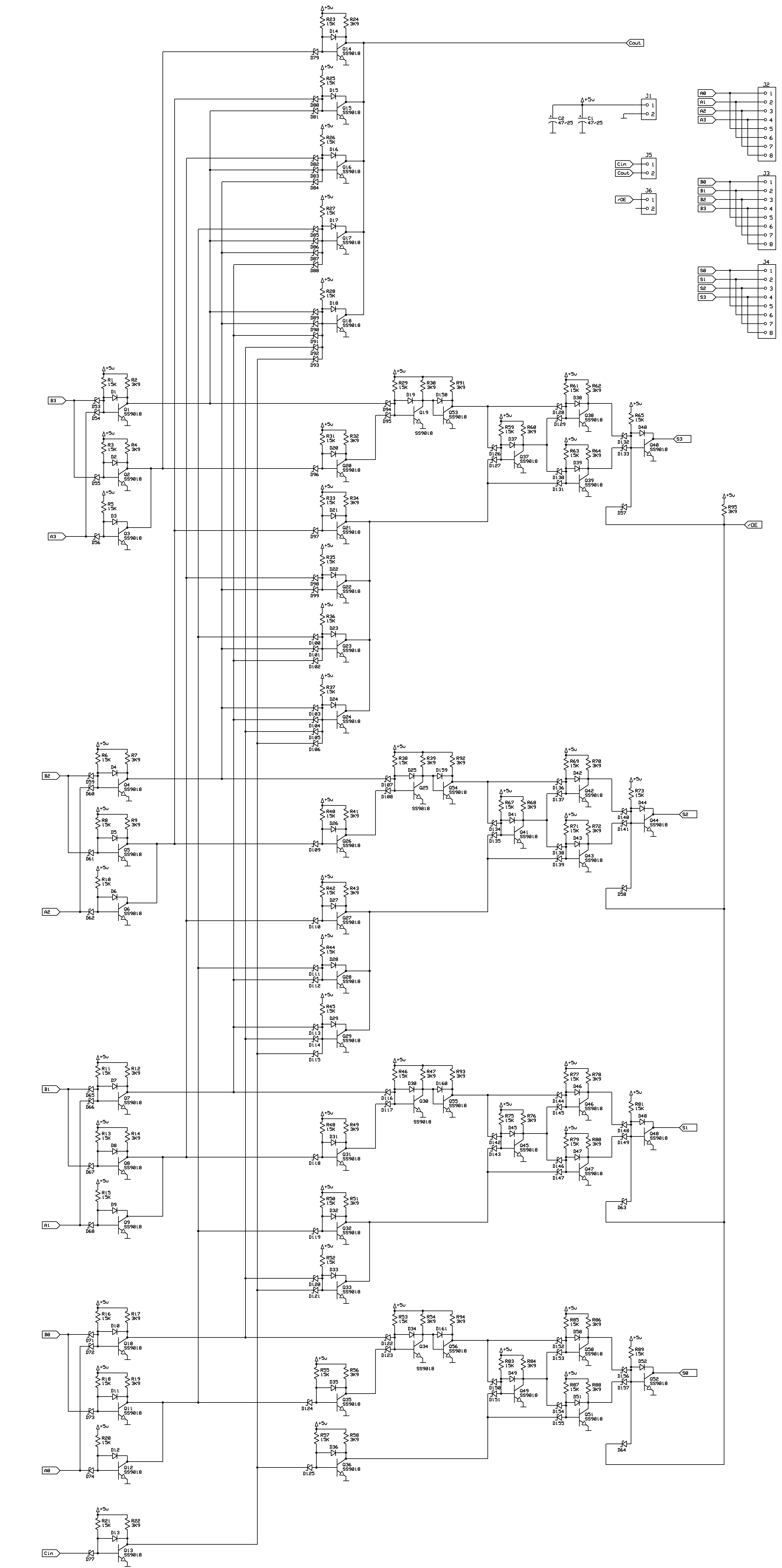 Homebuilt 8080 Alu 4 Bit Adder Logic Diagram Add Function Two Of These Is Used In The And Four More As Address Incrementer Decrementer